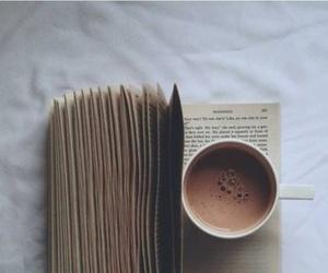 autumn, cocoa, and book image