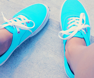 blue, vans, and neon image