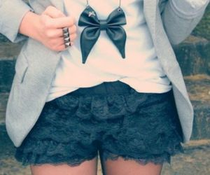fashion, bow, and black image