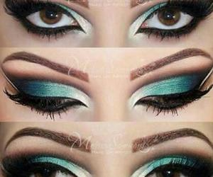 blue, fabulous, and makeup image
