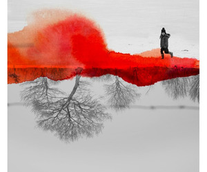 art, red, and fabienne rivory image