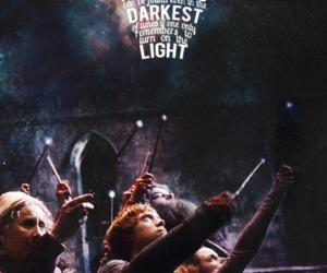 harry potter, hogwarts, and light image