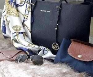 bag, Michael Kors, and Longchamp image