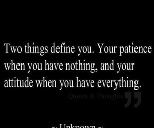 quote, patience, and attitude image