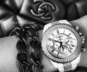 chanel purse, hermeslouboutinlouis, and chanel watch image
