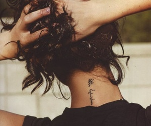 tattoo, hair, and arabic image