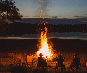 autumn, bonfire, and wilderness image