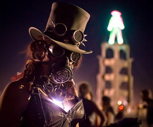 Burning Man and steampunk image
