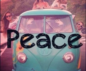 peace, girl, and summer image