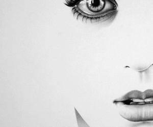 beautiful, girl, and draw image