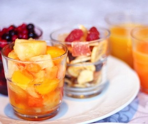 breakfast, fruit, and juice image