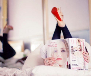 vogue, magazine, and shoes image