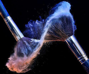 Brushes, makeup, and infinity image