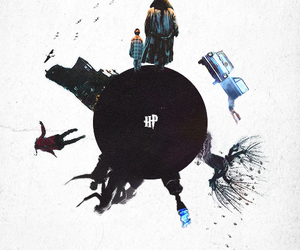 harry potter, hp, and hagrid image