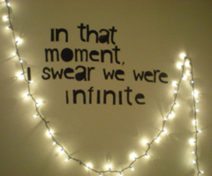 quote, infinite, and light image