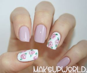 floral, flower, and girly image