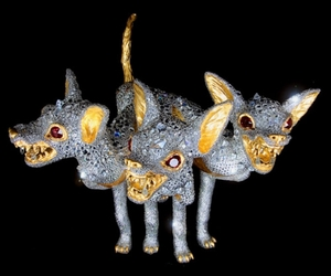 cerberus, contemporary art, and sinister image