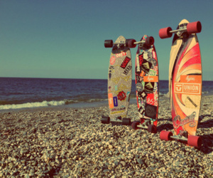 beach, hype, and skateboards image