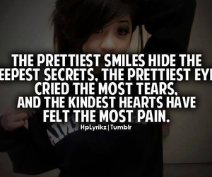 quote, smile, and pain image