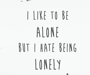 alone, quote, and lonely image