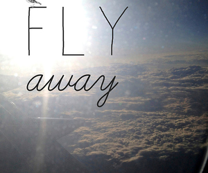 airplane, away, and clouds image