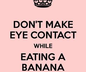 banana, funny, and eye contact image