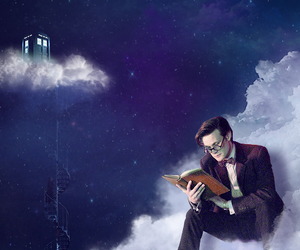 book, cloud, and doctor who image