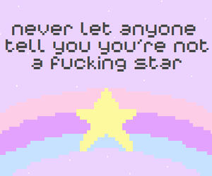 stars, quotes, and pastel image