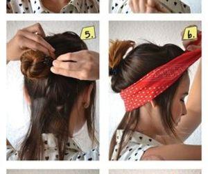 hair, diy, and peinado image