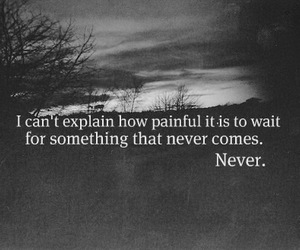 quotes, never, and sad image