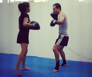 box, fight, and girl power image