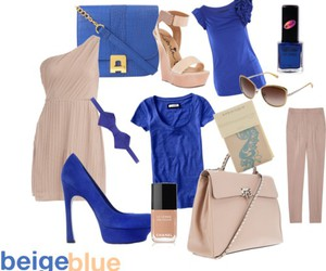 beige, fashion, and blue image