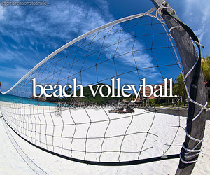 beach, beach volleyball, and girly image