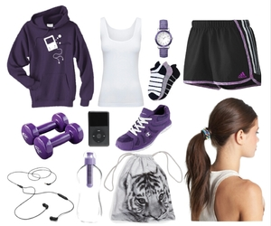 girly, Polyvore, and purple image
