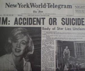Marilyn Monroe, suicide, and accident image