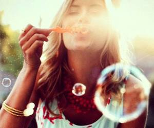 bubbles, cute, and summer image