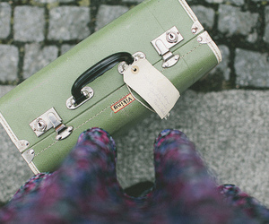 vintage, suitcase, and book image
