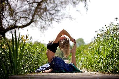 yoga, nature, and body image