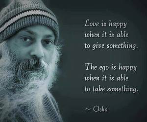 ego, quote, and osho image