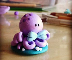 clay, fimo, and octopus image