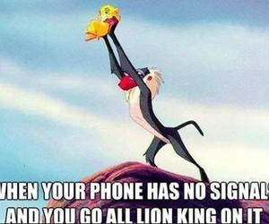 lion king, phone, and funny image