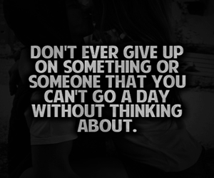 quote, love, and don't give up image