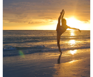 dance, sunset, and ballet image