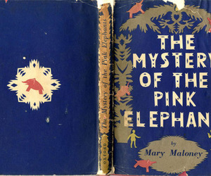 book, elephant, and mystery image