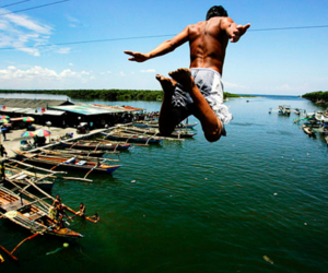 water and jump image