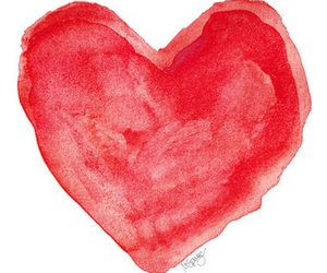 heart, love, and red image