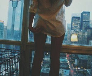 girl, city, and legs image