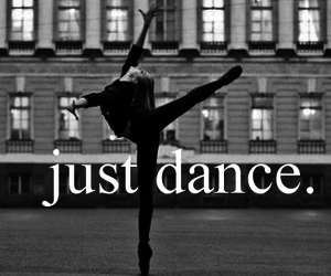 ballerina, black and white, and quote image