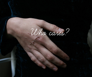 hand, question, and who cares image