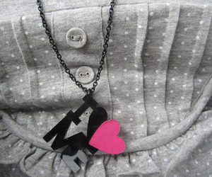 black, gray, and heart image